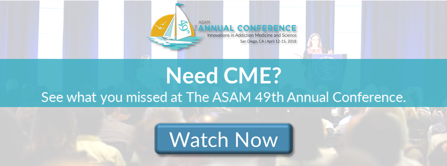 """The ASAM 49th Annual Conference, Innovations in Addiction Medicine banner"