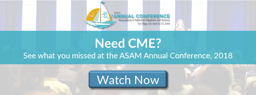 The ASAM 49th Annual Conference banner click to buy or watch